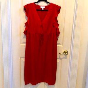 Motherhood Maternity red dress